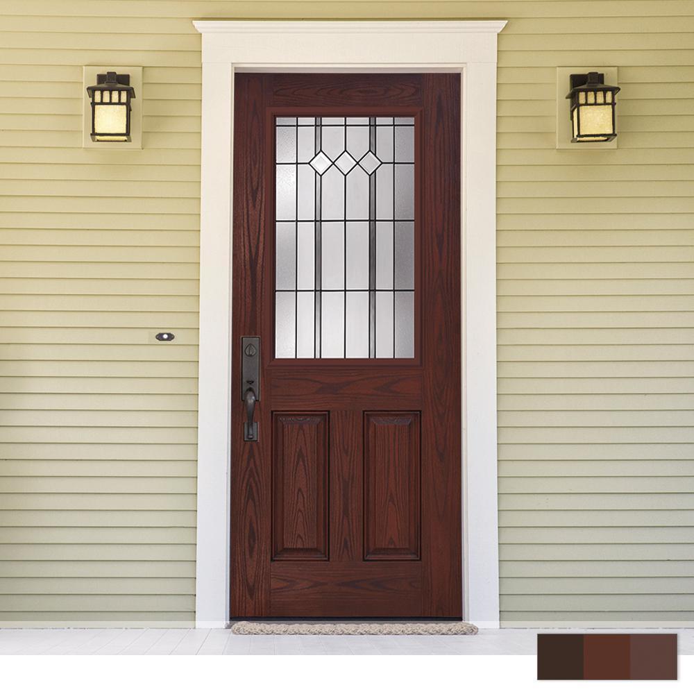 Epic Collection Customizable Fiberglass Prehung Front Door
