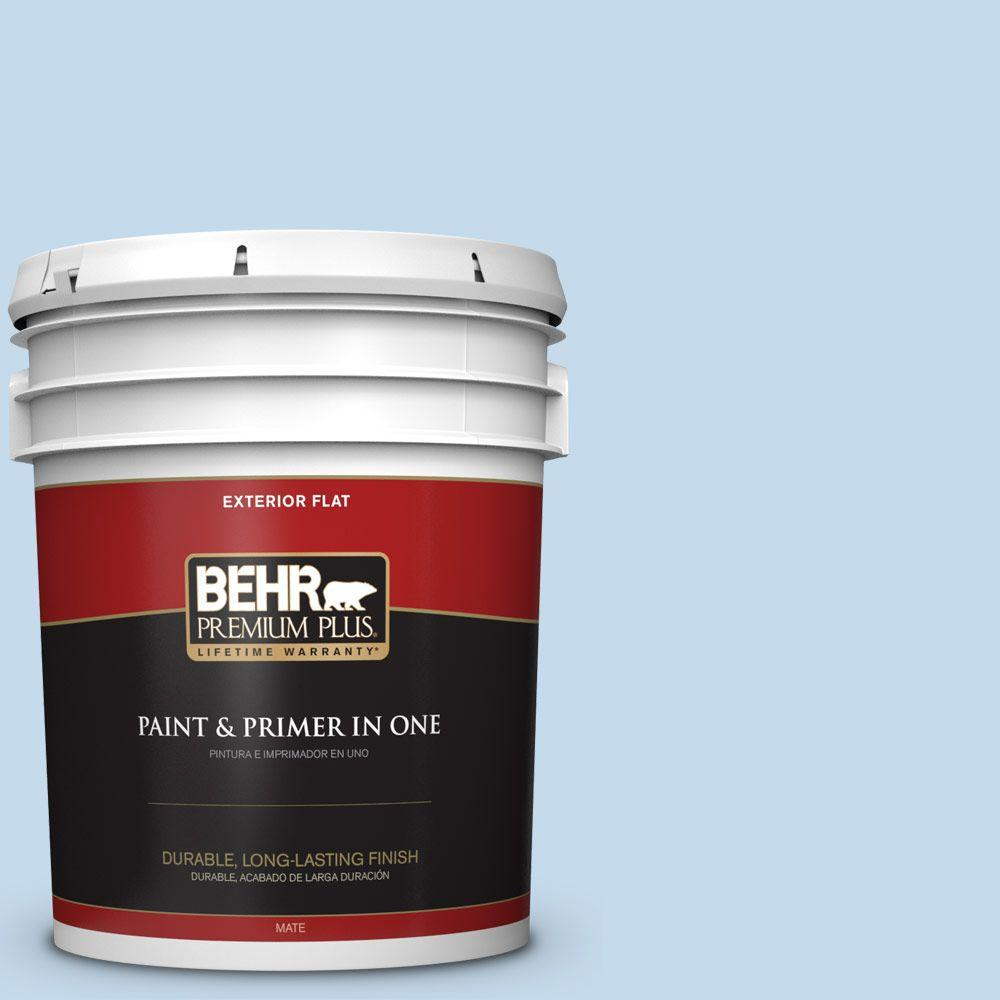 Home Decorators Collection 5-gal. #HDC-CT-15 Summer Sky Flat Exterior Paint