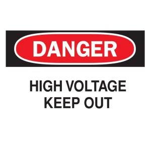 Click here to buy Brady 10 inch x 14 inch Plastic Danger High Voltage OSHA Safety Sign by Brady.