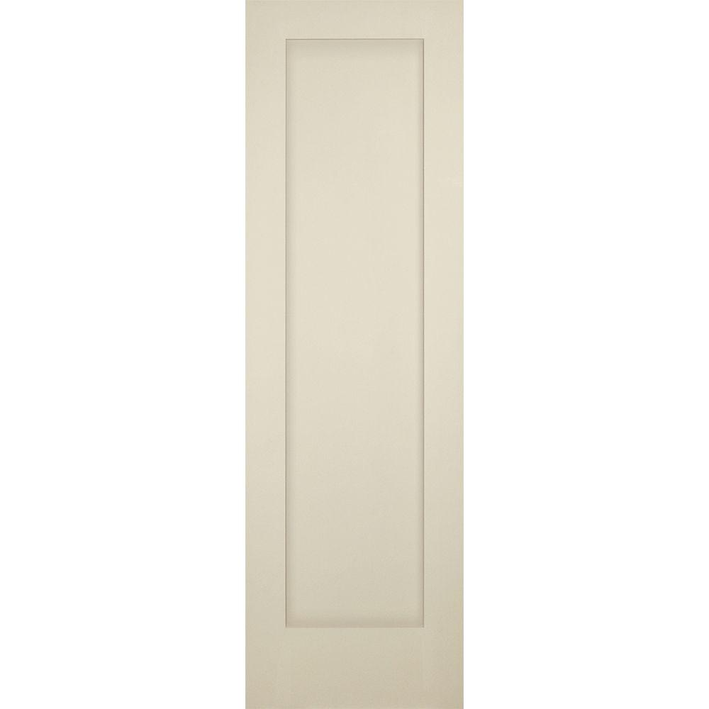 Kimberly Bay 28 In X 80 In White 1 Panel Shaker Solid: Builders Choice 24 In. X 80 In. 1-Panel Shaker Solid Core