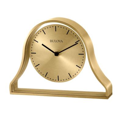 Metal Case Table Clock with Contemporary numbers