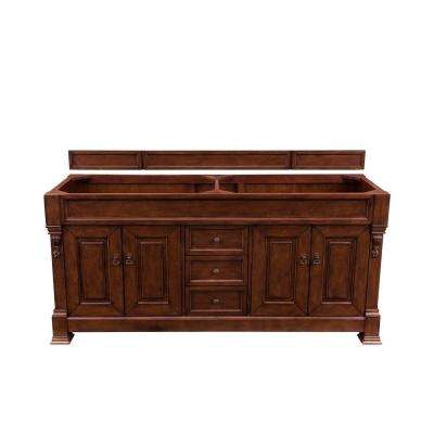 Brookfield 72 in. W Bathroom Vanity Cabinet Only in Warm Cherry