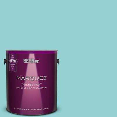 1 gal. #M460-3 Tinted to Big Surf One-Coat Hide Flat Interior Ceiling Paint and Primer in One
