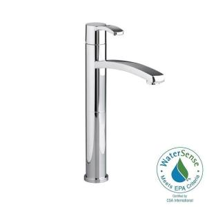 berwick single hole lowarc vessel bathroom faucet in polished chrome