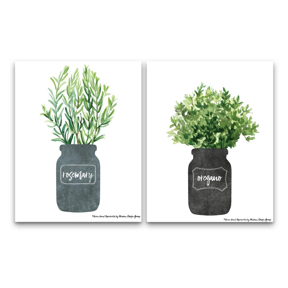 Artissimo Designs Rosemary & Oreganoby Susan Arnot Canvas Wall Art (Set of 2), Other was $72.5 now $50.75 (30.0% off)