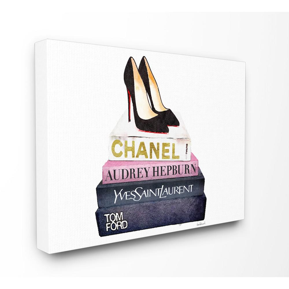 "16 in. x 20 in. ""Glam Fashion Book Set Black Pump"