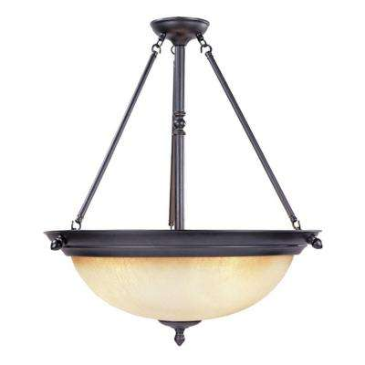 Branson Collection 3-Light Oil-Rubbed Bronze Hanging/Ceiling Light