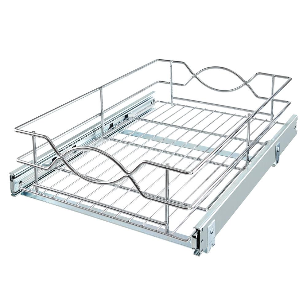 Pull Out Drawer Kitchen Cabinet Specs: Home Decorators Collection 14 In. W Wire Pull-Out Basket