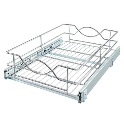 14 in. W Wire Pull-Out Basket
