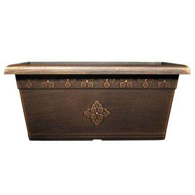 Medley 20 in. x 10 in. Warm Copper Plastic Window Box