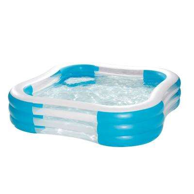 Deluxe Party 90 in. x 90 in. x 22 in. D Square Inflatable Above Ground Pool