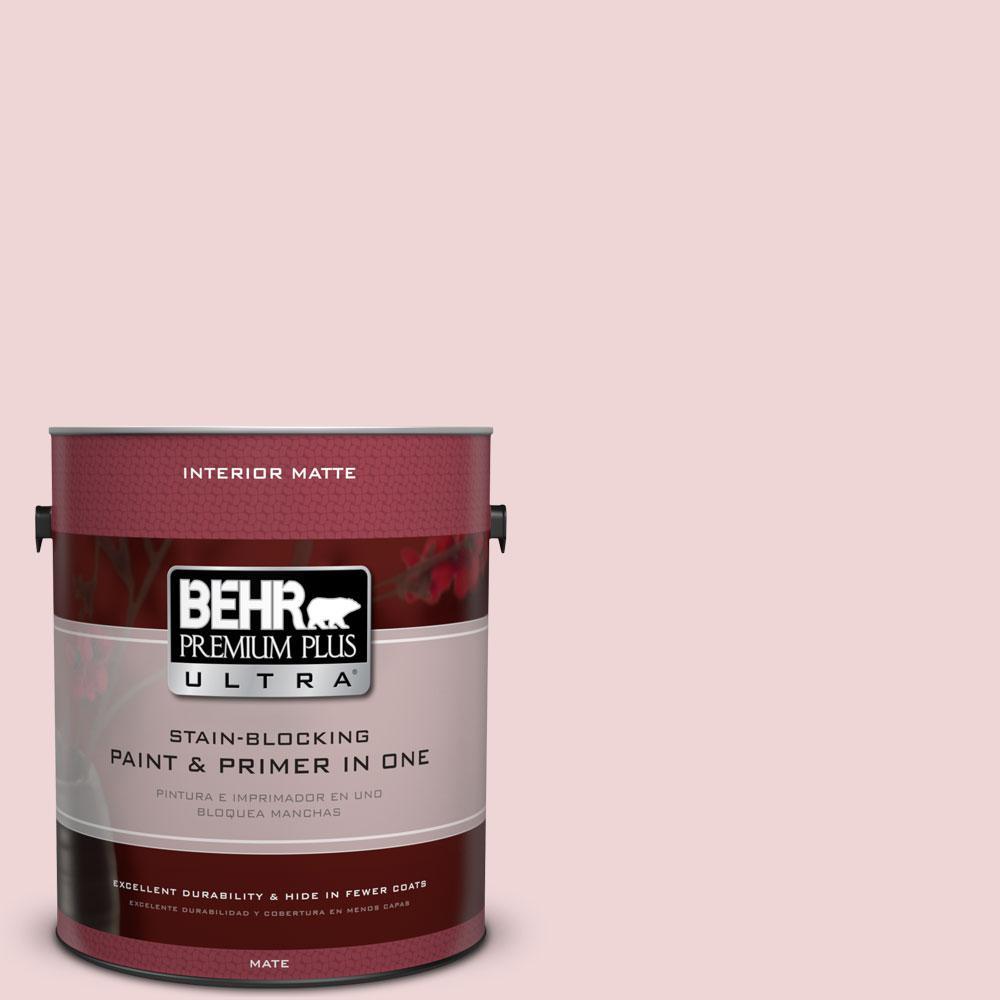 BEHR Premium Plus Ultra 1 gal. #S140-1 Radiant Rose Matte Interior Paint