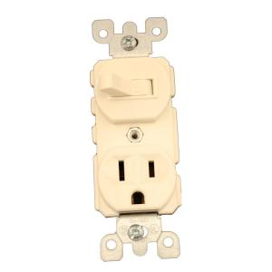 light almond leviton electrical outlets receptacles 5225 t 64_300 leviton 15 amp commercial grade combination single pole toggle