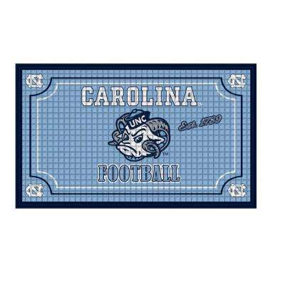 University of North Carolina 18 in. x 30 in. Embossed Welcome Mat