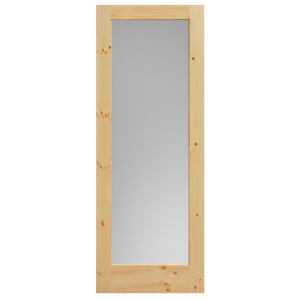 Masonite 40 in x 84 in knotty pine veneer 1 lite solid for Wood interior barn doors