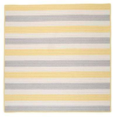 Baxter Yellow Shimmer 6 ft. x 6 ft. Square Indoor/Outdoor Braided Area Rug