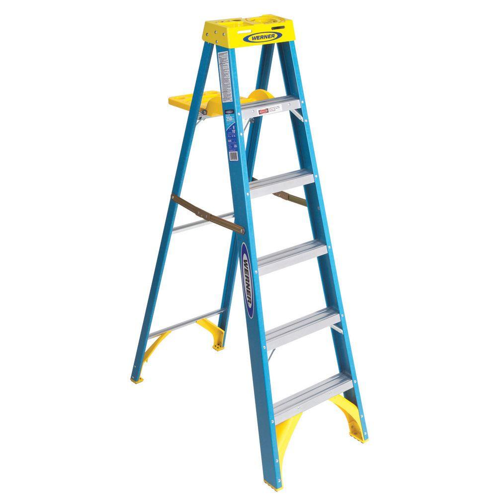 6 ft. Fiberglass Step Ladder with 250 lb. Load Capacity Type