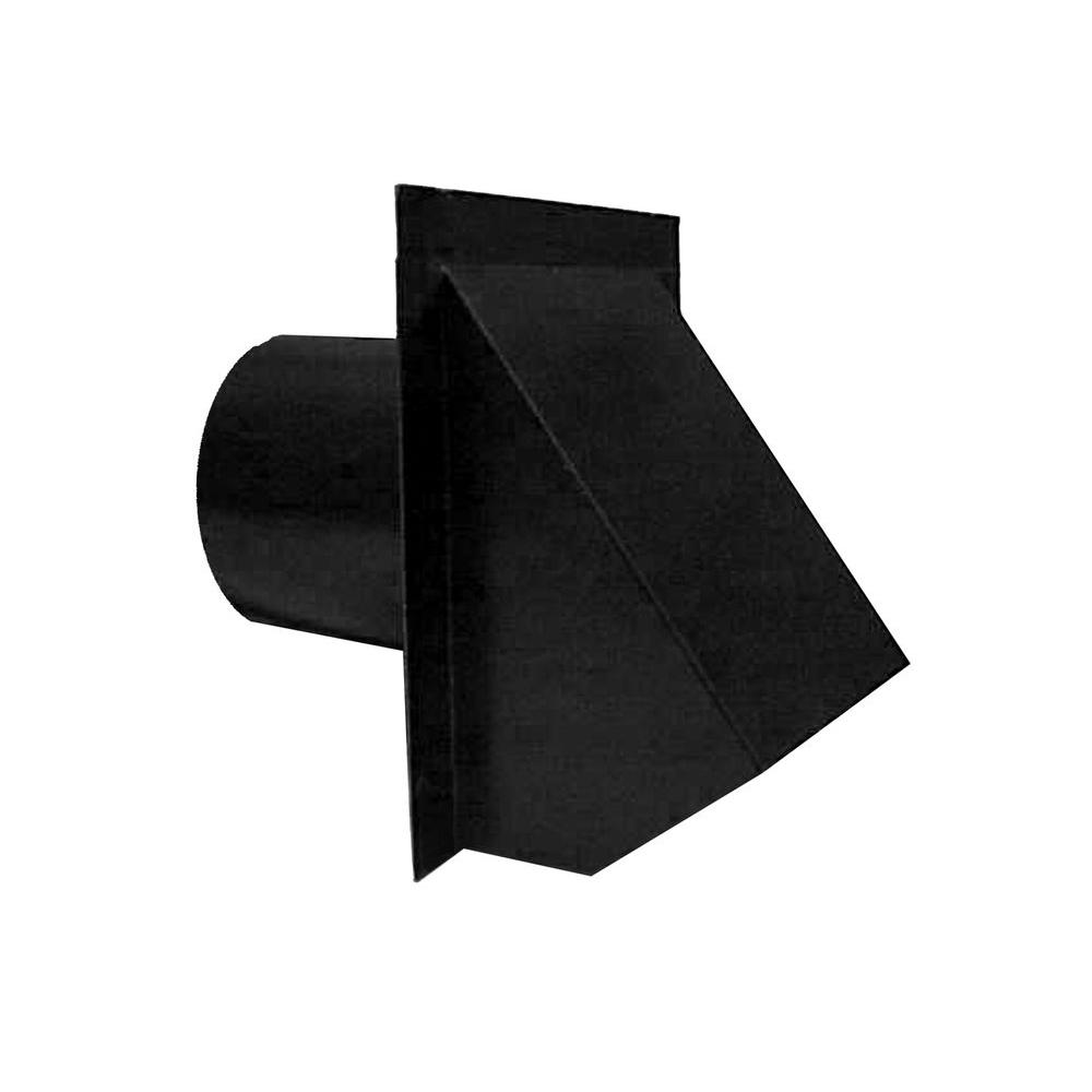4 in. Round Wall Vent in Black