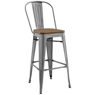 Promenade Gunmetal Bar Stool