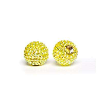 Bling Acrylic Yellow Bicycle Valve Cap