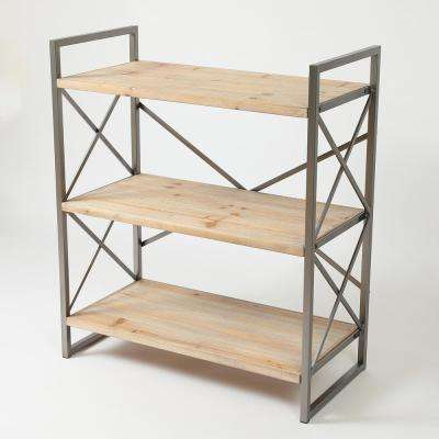 36 in. Natural Etagere Bookcase
