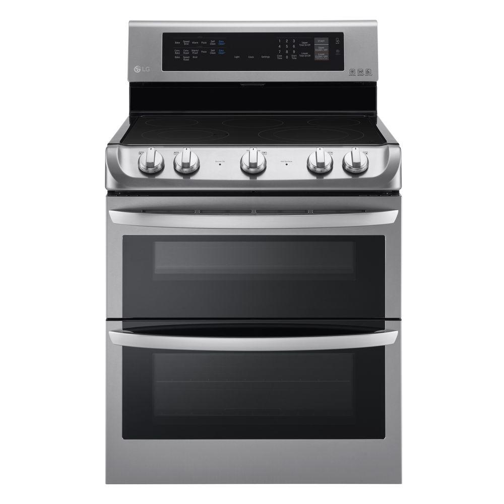 Double Oven Electric Range With Probake Convection Self Clean And Easyclean In Stainless Steel