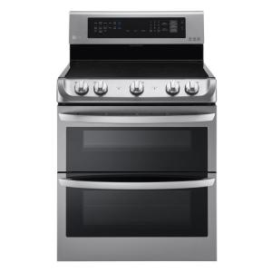 LG Electronics 7.3 cu. ft. Double Oven Electric Range with ProBake Convection Oven in Stainless Steel by LG Electronics