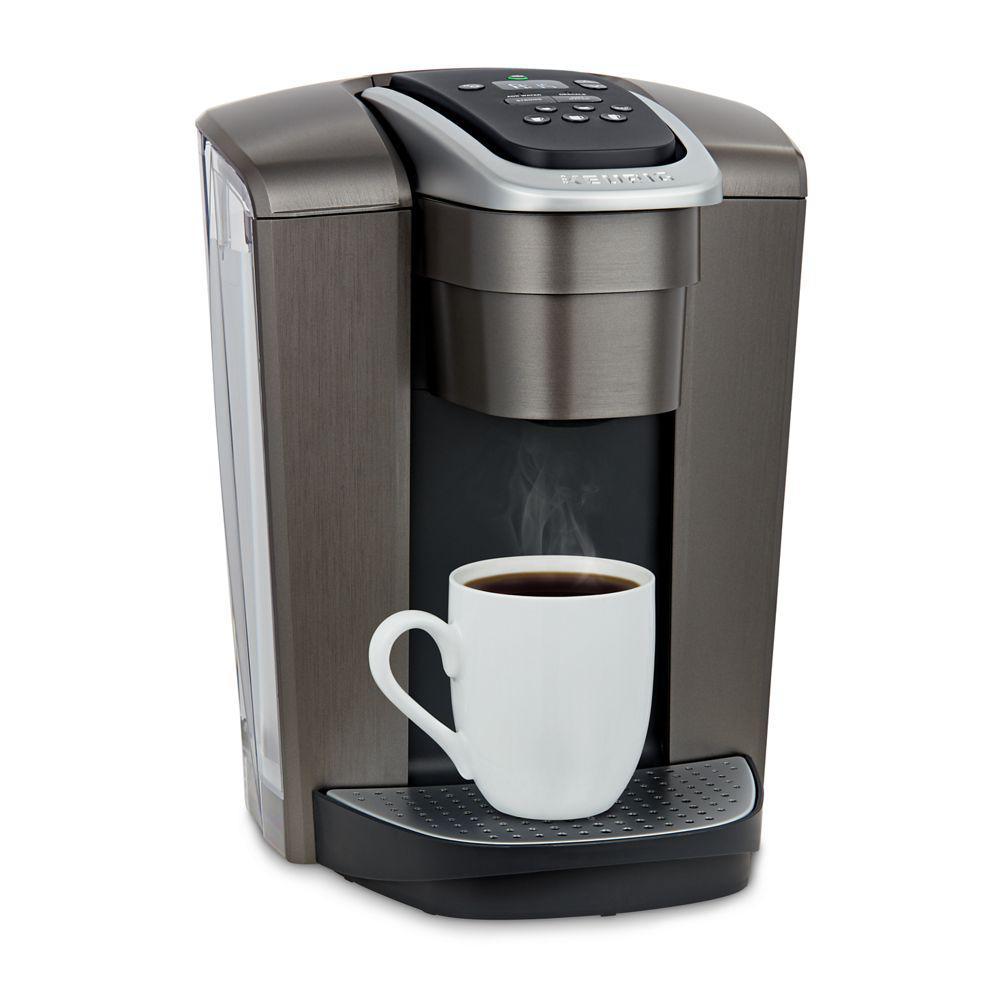 Keurig K-Elite Brushed Slate Single Serve Coffee Maker with Temperature Control
