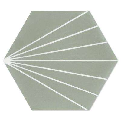 Spark C May (PS) 7-7/8 in. x 7-7/8 in. Cement Handmade Floor and Wall Tile