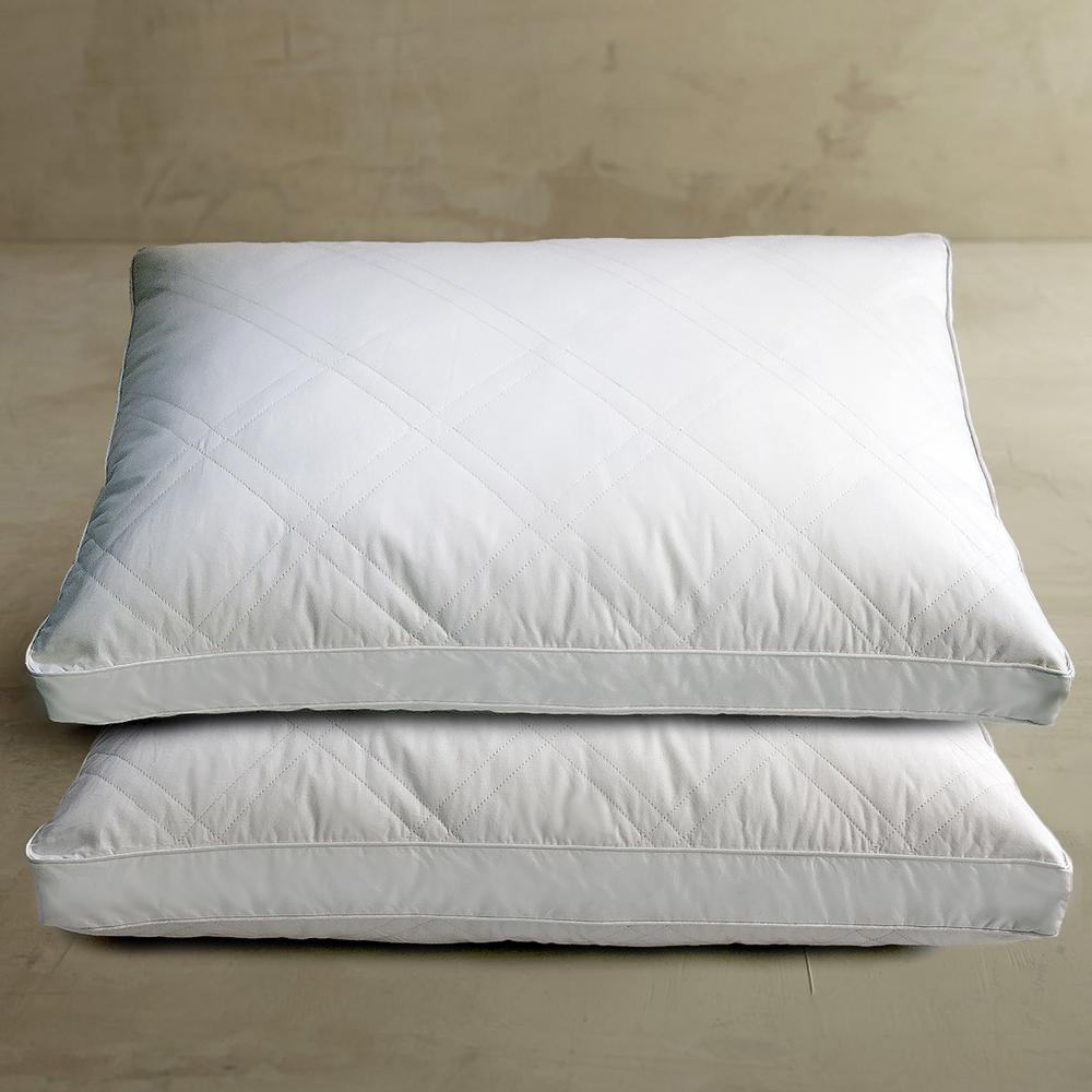 Blue Ridge White Goose Feather and Down Jumbo Pillow (2-Pack)-K200506 - The Home Depot