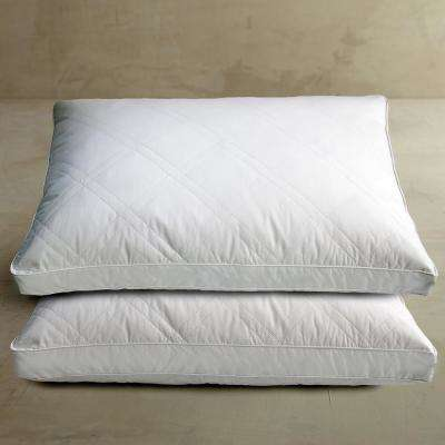 White Goose Feather and Down Jumbo Pillow (2-Pack)