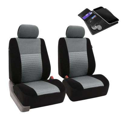 Fabric 47 in. x 23 in x 1 in. Deluxe 3D Air Mesh Front Seat Covers