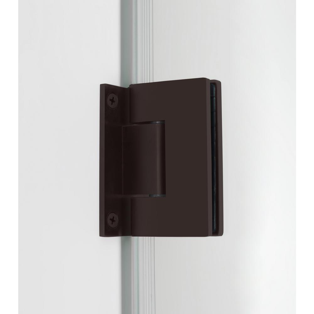 Aston Bromley 45 25 In To 46 25 In X 38 375 In X 72 In Frameless Corner Hinged Shower Door In Bronze Sen967ez Nbr 462438 10 The Home Depot