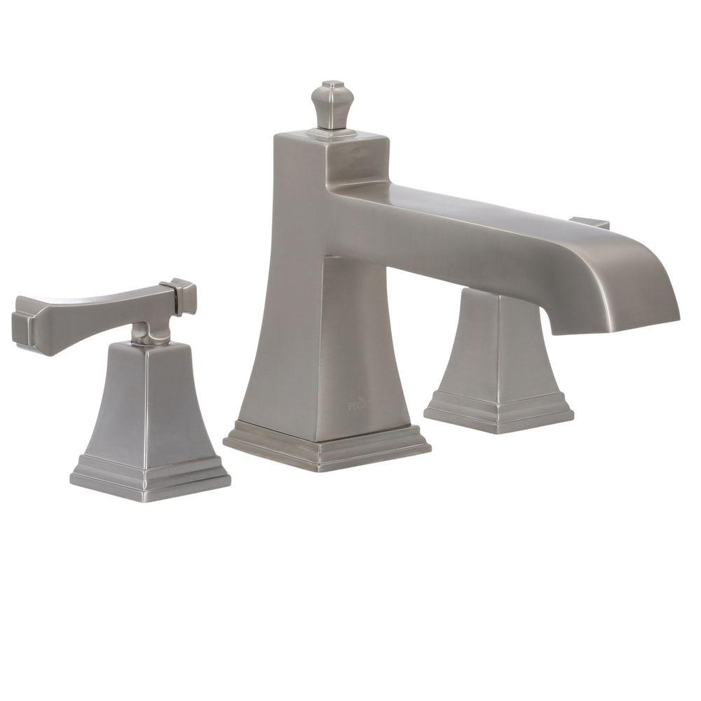 Pegasus Exhibit 2-Handle Roman Tub Faucet in Brushed Nickel-65601 ...
