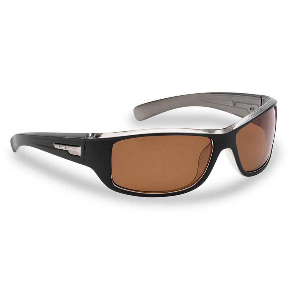 48fd462b9f Helm Polarized Sunglasses in Black Crystal Gunmetal Frame with Amber Lens