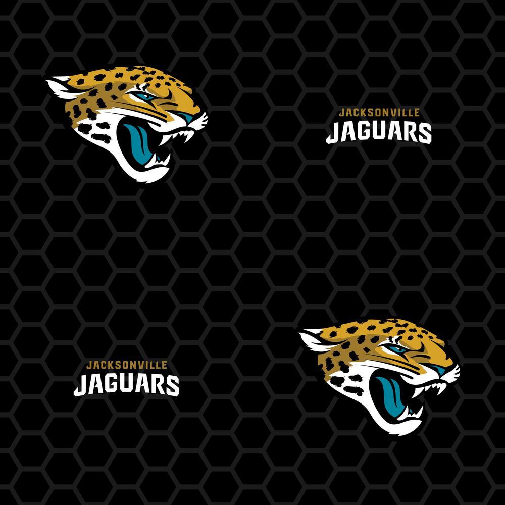 Fathead Logo Jacksonville Jaguars Black Vinyl Peelable Roll Covers 33 Sq Ft 1183 00284 The Home Depot