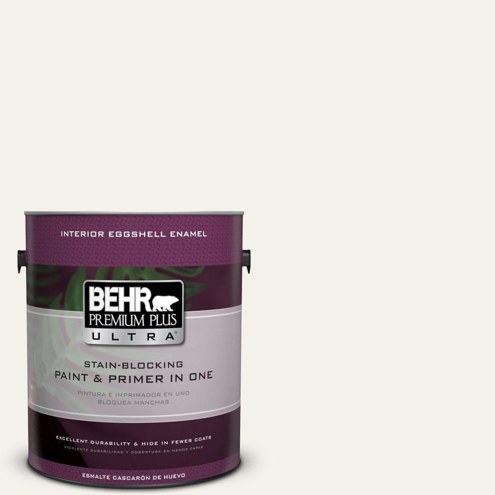 BEHR Premium Plus Ultra 1-Gal. #PPU18-7 Falling Snow Eggshell Enamel Interior Paint