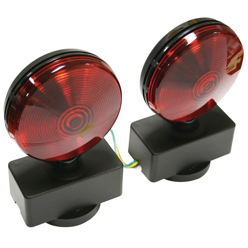 Reese Towpower Red/Red Magnetic Base Tow Light