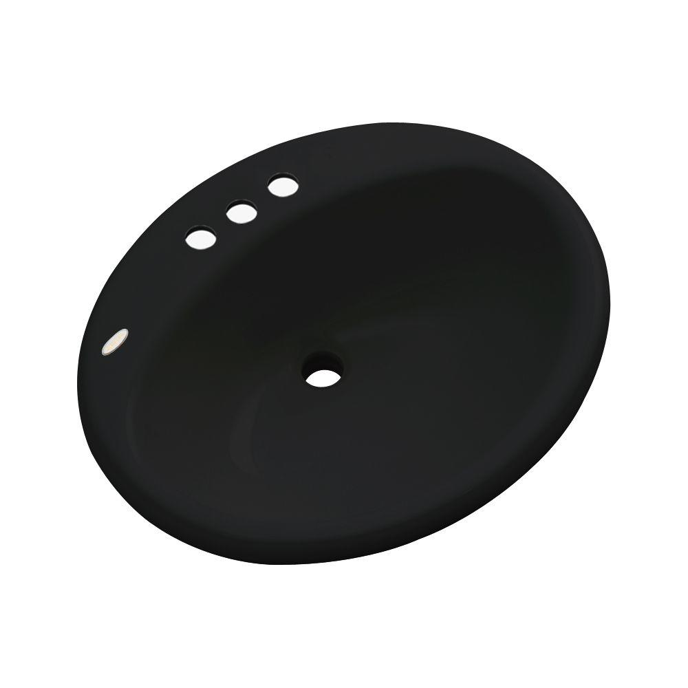 Bayfield Drop-In Bathroom Sink in Black