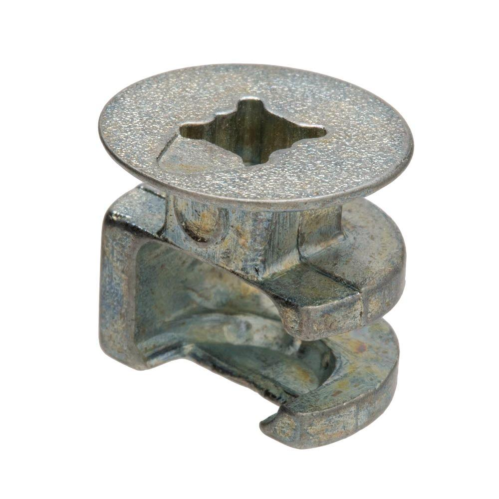 Everbilt 15 mm x 14 mm Plain Phillips Drive Cam Connectors (4-Pieces)