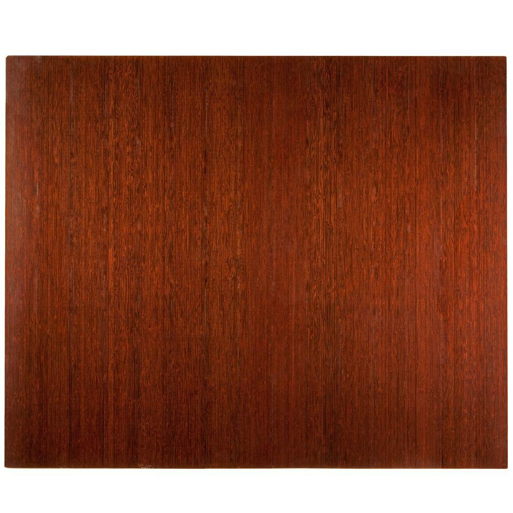 Deluxe Dark Brown Mahogany 48 in. x 60 in. Bamboo Roll-Up