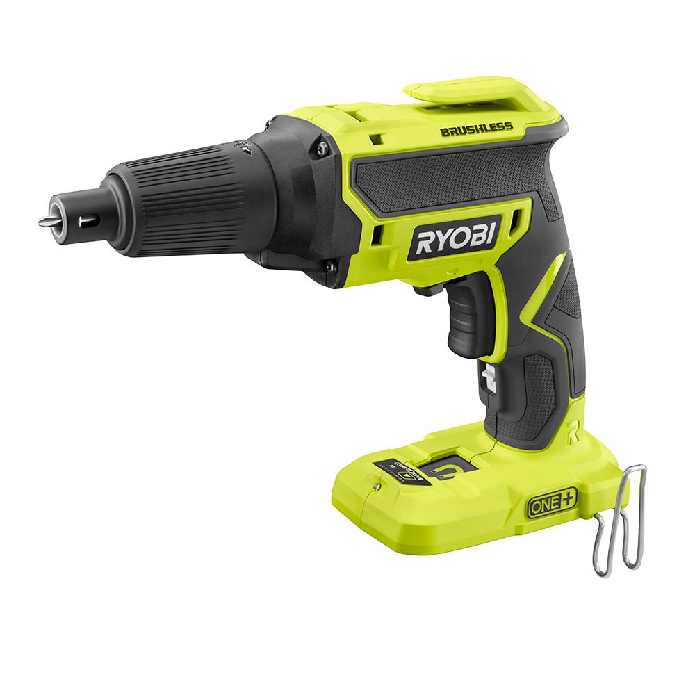 ryobi 18 volt one brushless drywall screw gun tool only p225 the home depot. Black Bedroom Furniture Sets. Home Design Ideas