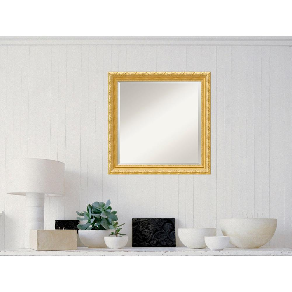 Versailles Gold Wood 24 in. W x 24 in. H Traditional