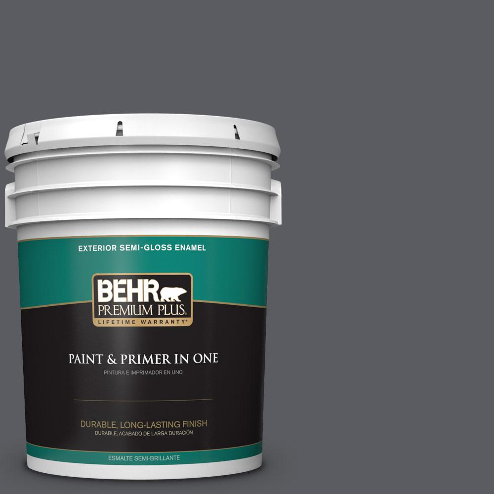 5 gal. #PPU18-02 Pencil Point Semi-Gloss Enamel Exterior Paint