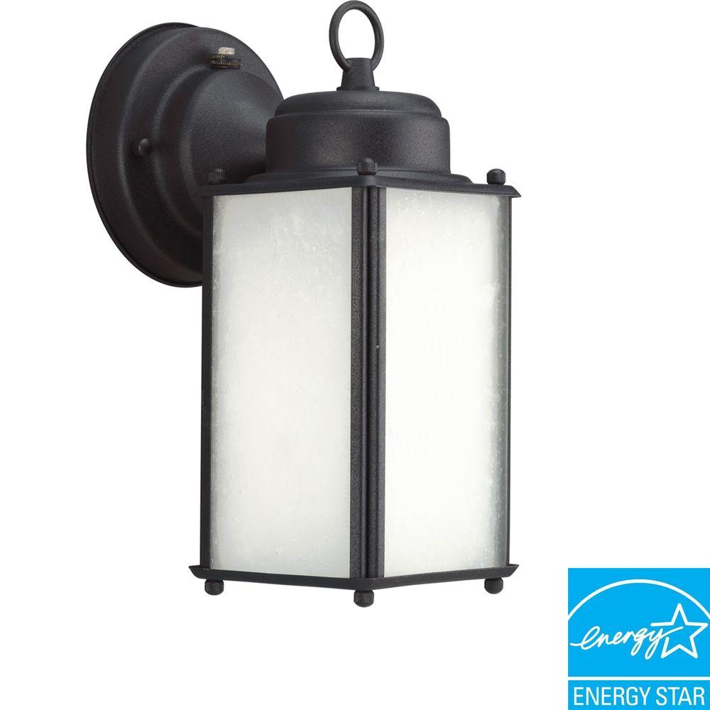 Progress Lighting Roman Coach Collection Black 1-light Wall Lantern-DISCONTINUED