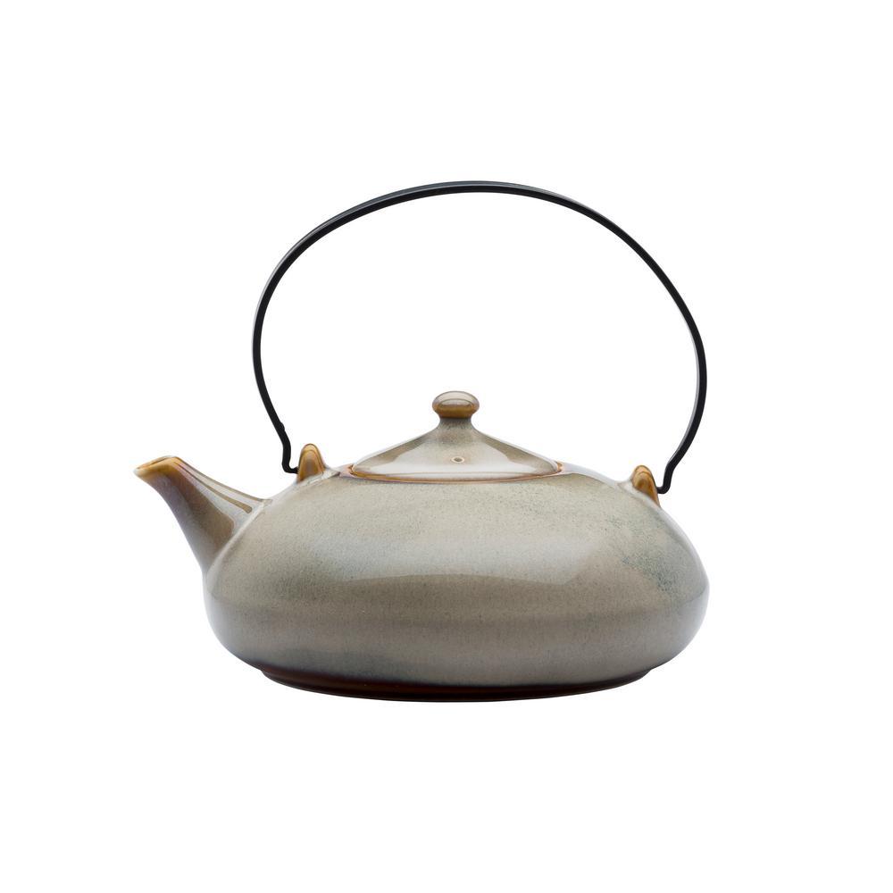 2-Cup Sama Porcelain Tea Pots with Metal Handles 14 oz. (Set of 12)