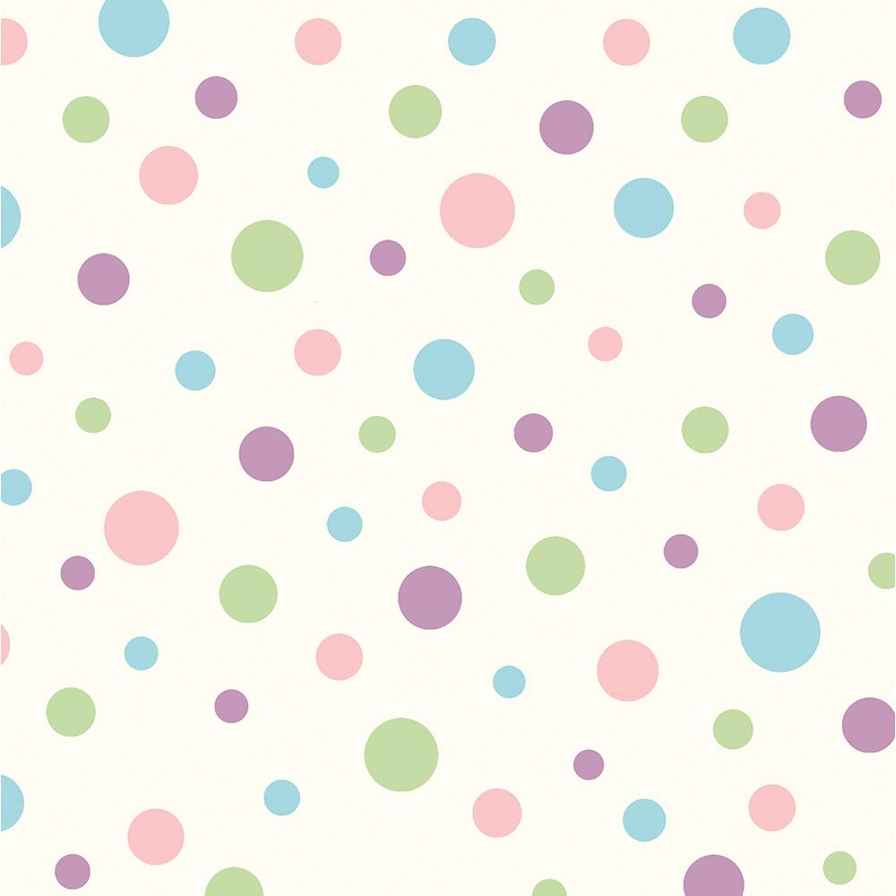 Chesapeake Dotty Pink Polka Dot Toss Wallpaper Sample