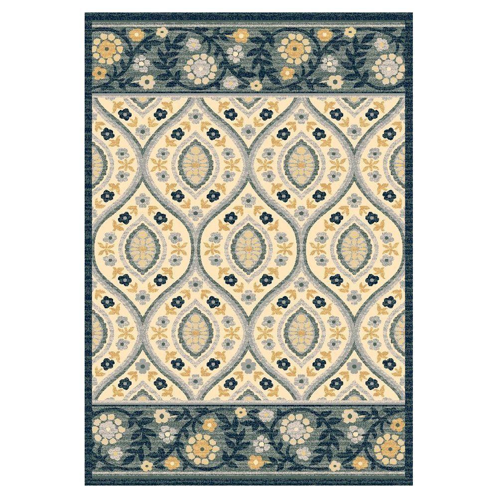 Kas Rugs Manhatten Ivory/Blue 5 ft. x 8 ft. Area Rug The Kas Rugs 5 ft. x 8 ft. Area Rug is ideal for bringing your interior space together. This rectangular rug has a stain-resistant design and features fade-resistant materials. It has an oriental pattern, which brings in an elaborate accent to your home decor. Designed with ivory elements, this woven rug adds to the soft and chic atmosphere of your room for an understated touch of elegance. It has a 60% viscose construction, providing style and underfoot comfort to your flooring. Color: Ivory/Blue.