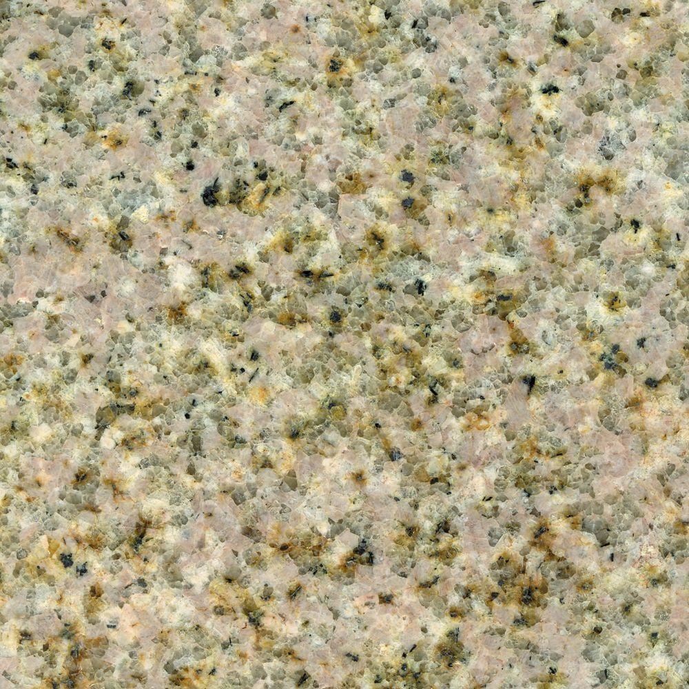 KraftMaid 4 in. x 4 in. Natural Granite Vanity Top Sample in Wheat