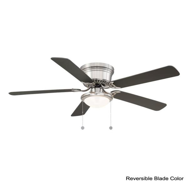Unbranded Hugger 56 In Led Brushed Nickel Ceiling Fan Al383d Bn The Home Depot